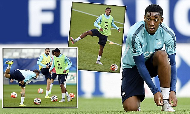 France's forward Anthony Martial takes p